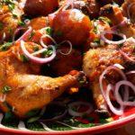Кебаб с курицей в казане