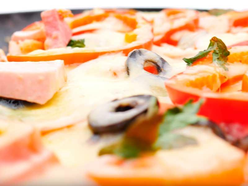 Пицца без теста в сковороде