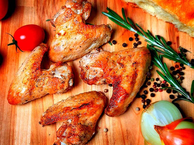 Куриные крылья — шашлык